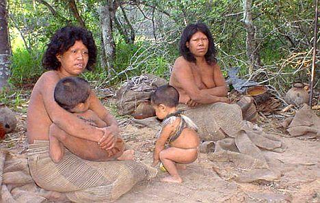 Ayoreo Indios in Südamerika